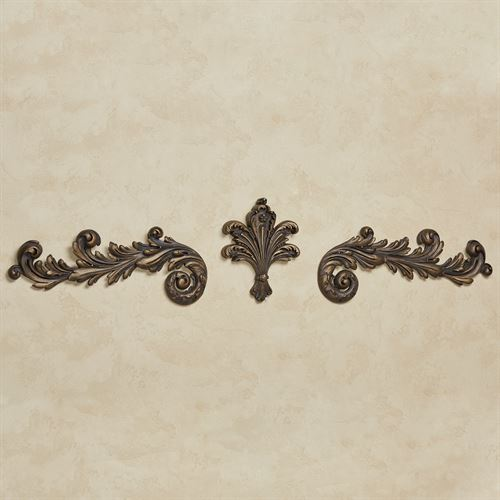 Natallia Wall Toppers Antique Gold Set of Three