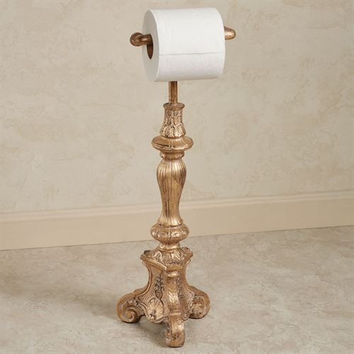 Sabriel Toilet Paper Stand Ornate Gold