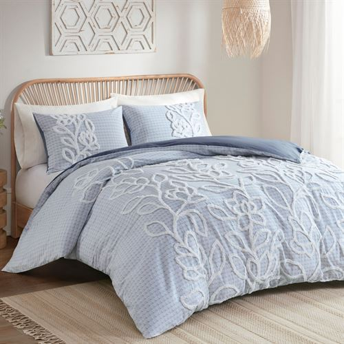 Aitana Tufted Chenille Blue Mini, Madison Park Bedding Website