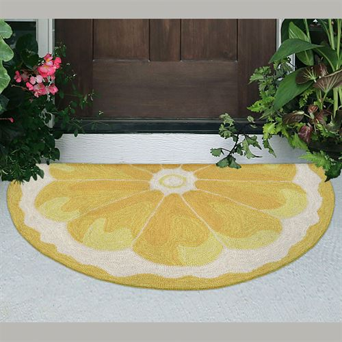 Citrus Lemon Slice Rug Yellow