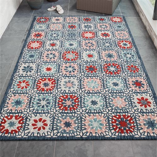 Boho Tiles Rectangle Rug