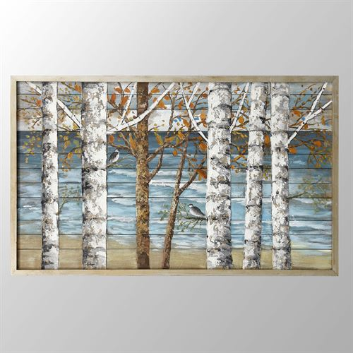 Birch Island Wood Panel Wall Art Multi Earth