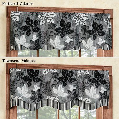 Maple Leaf Platinum Gray Petticoat Valance 52 x 15