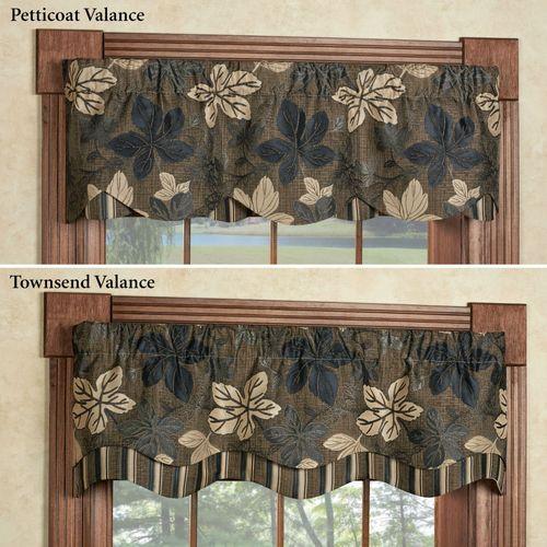 Maple Leaf Sable Brown Petticoat Valance 52 x 15