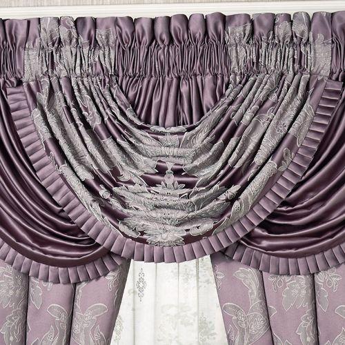 Ambience Damask Waterfall Valance Wisteria 42 x 33