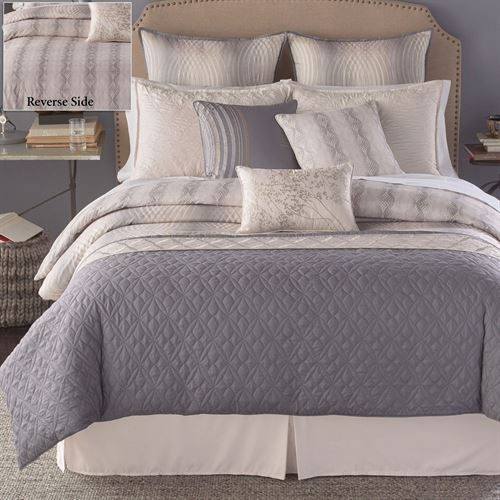 Sahara Reversible Comforter Bed Set Gray