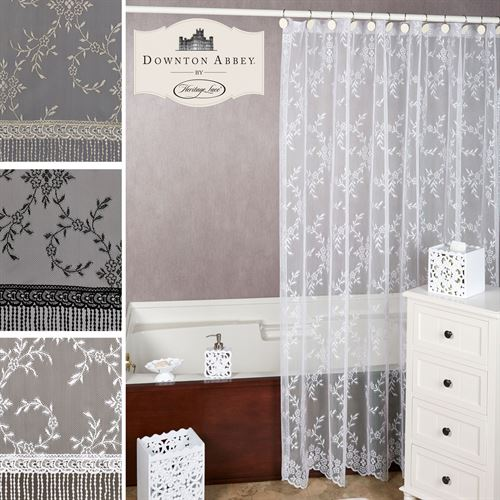 Downton Abbey Yorkshire Lace Shower Curtain