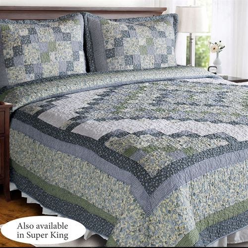 Blue Ridge Valley Patchwork Quilt