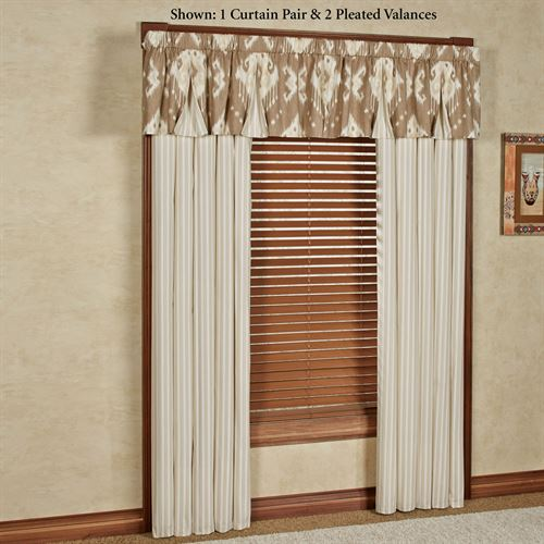 Alameda Pleated Valance Tan 52 x 17