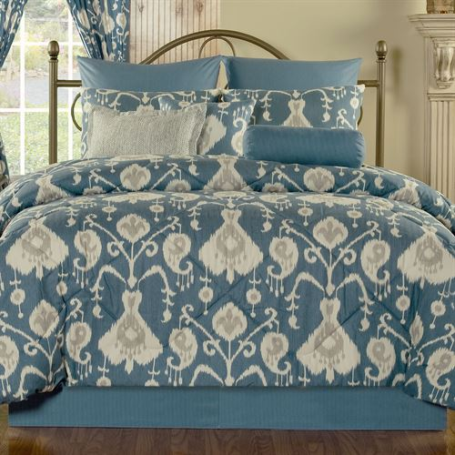 Copenhagen Medallion Comforter Set Dark Blue
