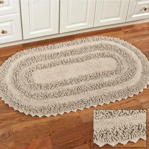 Elegant Lace Oval Rug