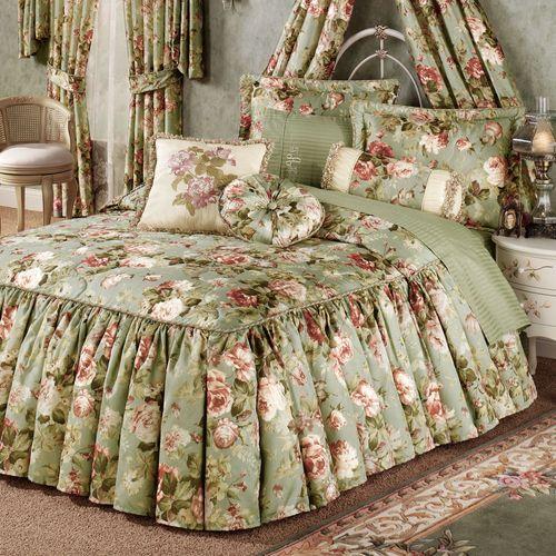 Summerfield Flounce Bedspread Misty Jade