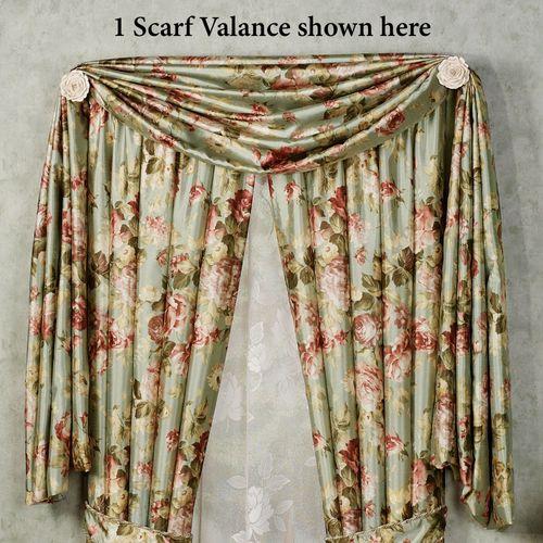 Summerfield Scarf Valance Misty Jade 44 x 144
