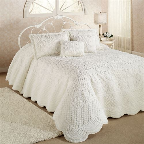 Whisper Candlelight Soft Oversized Quilted Bedspread