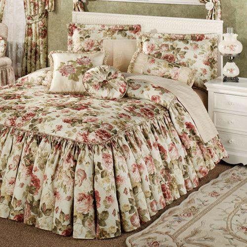 Springfield Floral Grande Bedspread Light Cream