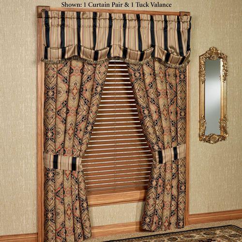 Ravel Wide Tailored Curtain Pair Multi Warm 112 x 84