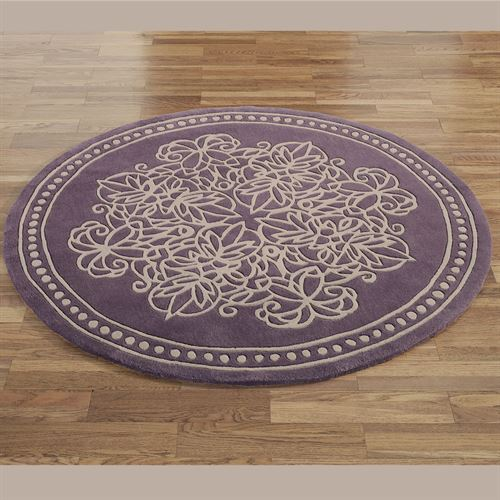 Vintage Lace Round Rug