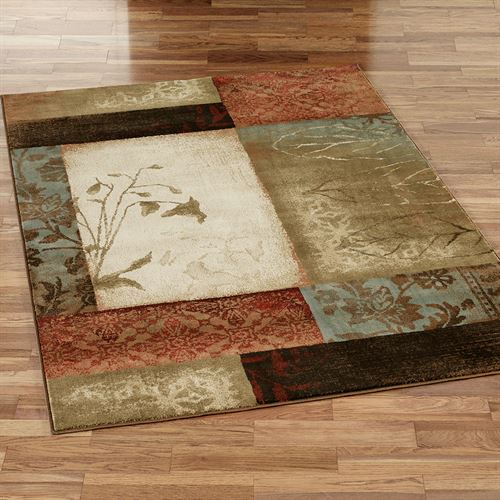 Impression Leaf Rectangle Rug