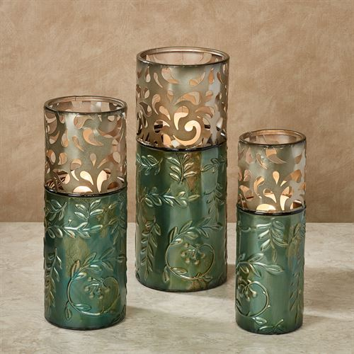 Natures Triumph Decorative Metal Vase Set