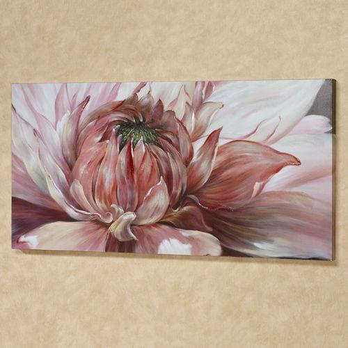 Brilliant Bloom Canvas Wall Art Pink
