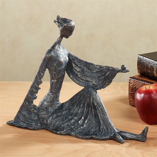 Artist Pose Table Sculpture Dark Gray