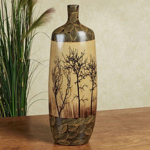 Bare Trees Ceramic Floor Vase