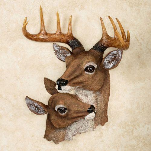 Deer Head Wall Art Brown