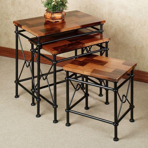 Maclaren Nesting Table Set Black Set of Three