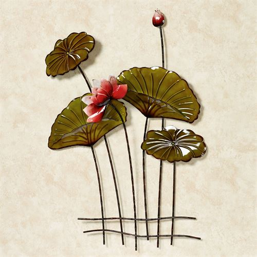 Lotus in Lily Pads Wall Art Green