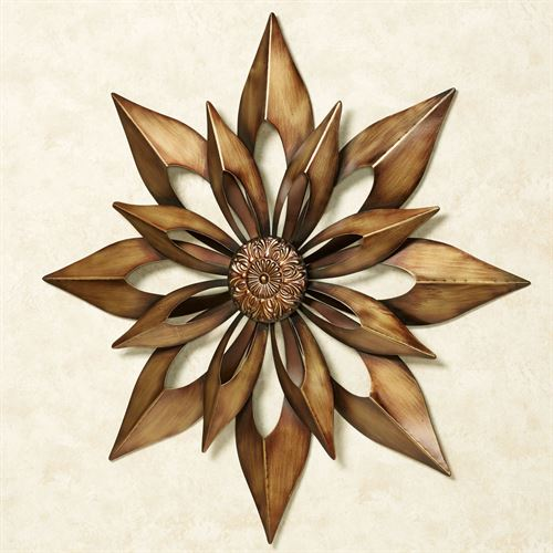 Starburst Wall Art Antique Gold