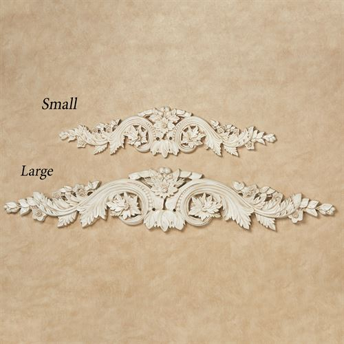 Flowering Medallion Decorative Wall Topper Antique Ivory
