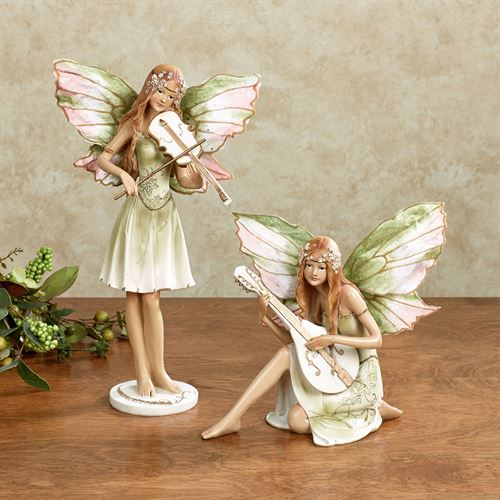 Fairy Concerto Figurines Green Set of Two