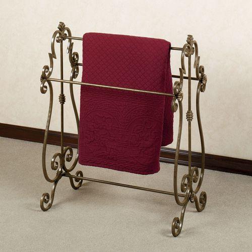 Isabella Blanket Rack Aged Gold