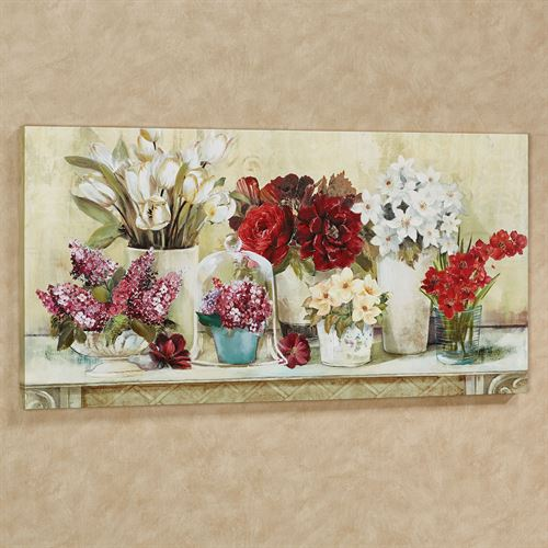 Summer Splendor Floral Canvas Wall Art Multi Warm