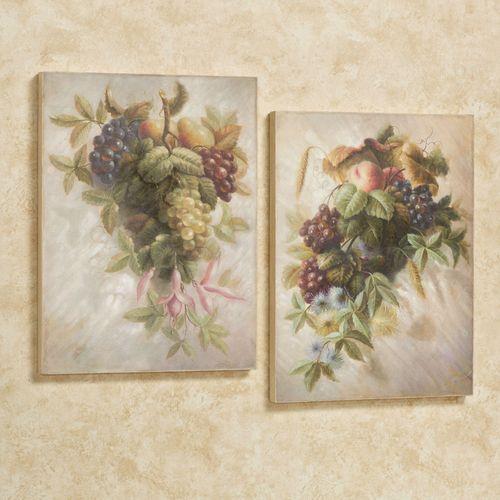 Fruit Bouquet Wall Art Multi Warm Set of Two
