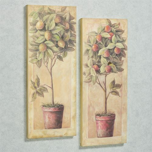 Fruitful Tree Wall Art Multi Warm Set of Two