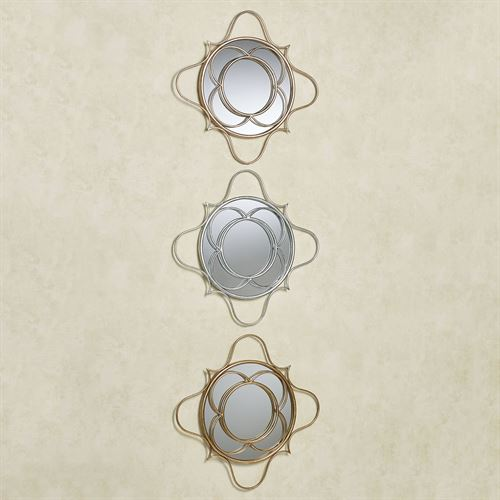 Brawley Mirrored Wall Art Multi Metallic Set of Three