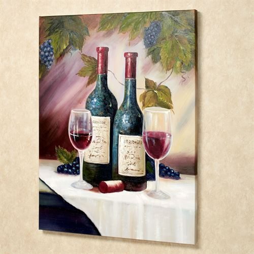 Wine Tasting for Two Canvas Art Multi Warm