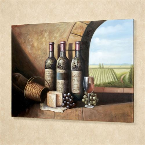 Vintage Wine Canvas Art Multi Warm