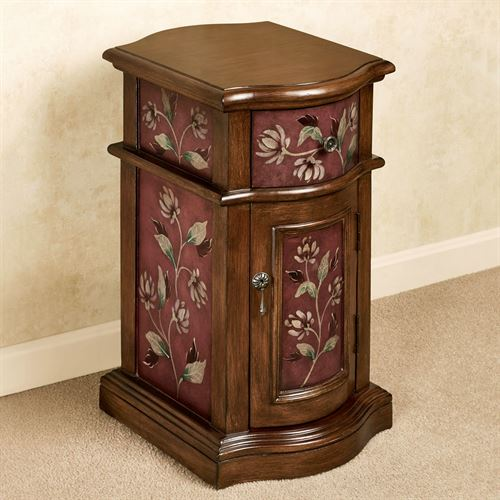Sophie Chairside Cabinet Burgundy