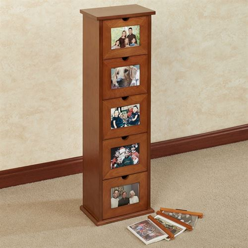 Larimore Photo Cabinet Windsor Oak