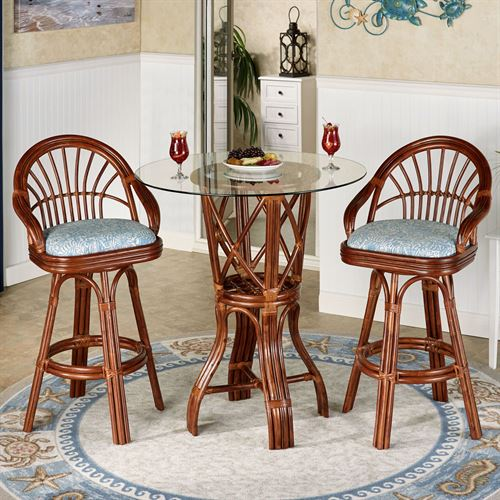 Leikela Bar Table with Two Stools Malibu Seaside Set of Three
