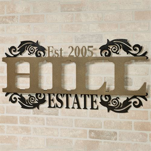 Legacy ESTATE Personalized Metal Wall Art Sign Estate