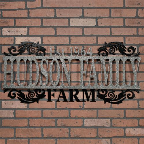 Legacy FARM Personalized Metal Wall Art Sign Farm