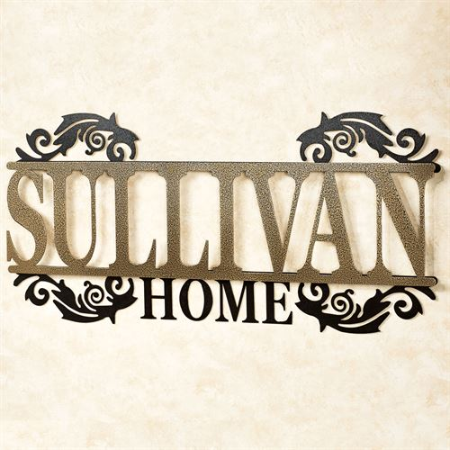 Legacy HOME Personalized Metal Wall Art Sign Home