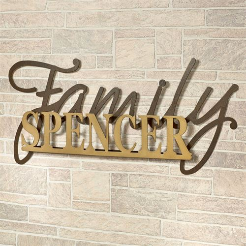 Signature Personalized Metal Wall Art Sign Gold/Bronze