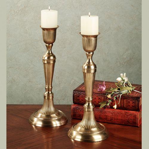 Wesley Candleholder Satin Brass