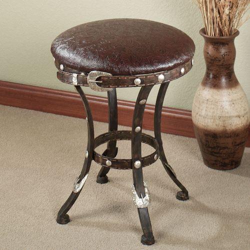 Laredo Upholstered Stool Dark Bronze