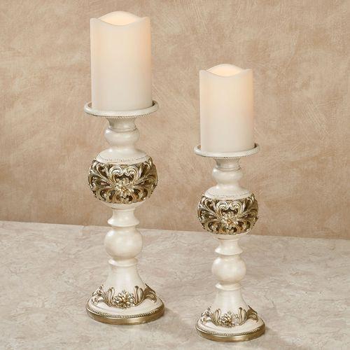 Abimbola Candleholders Ivory Set of Two
