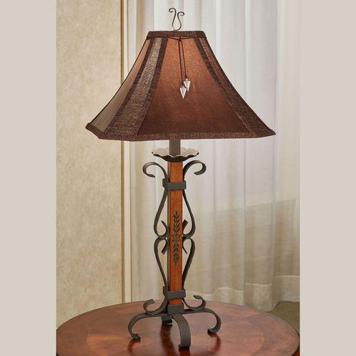 Lone Star Table Lamp Brown